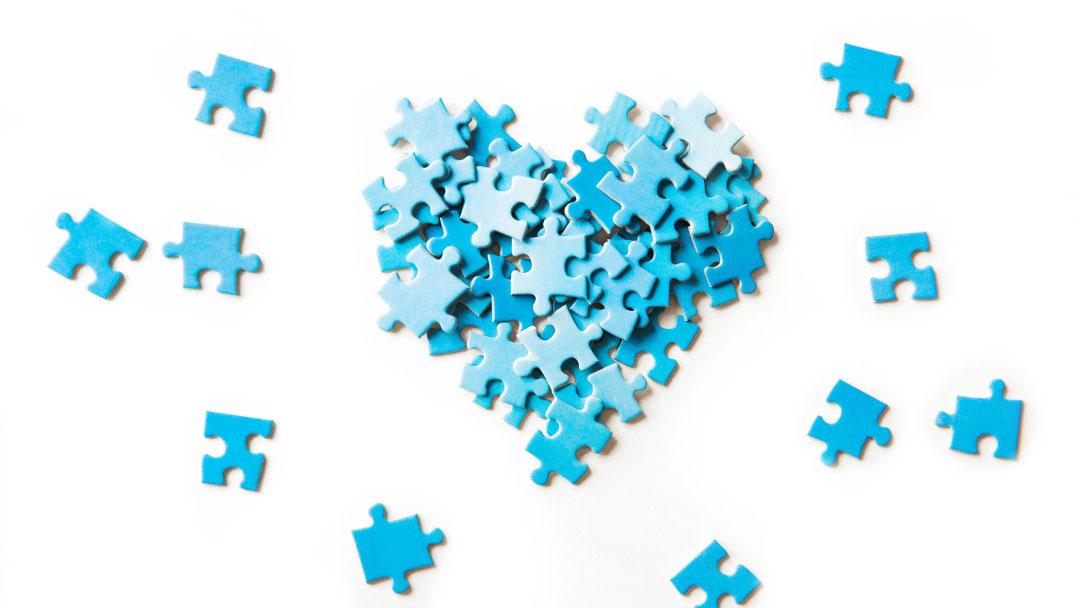 Herz aus Puzzelteilen - Blogartikel - Was ich an Selbstführung mag